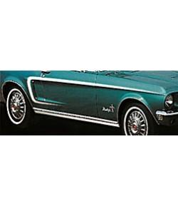 """1968 Bandes adhésives """"GT"""" couleur Gold"""