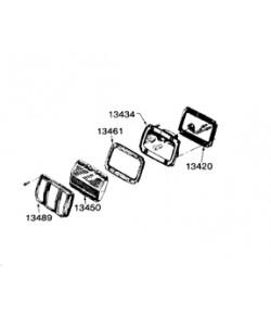 1967-68 Joints caoutchouc (Set de 6) feux arrière