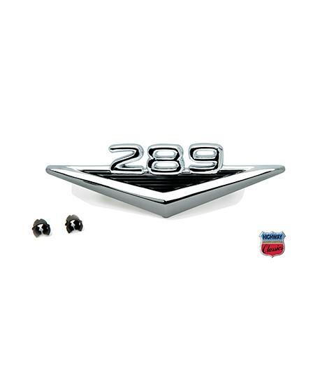 """Emblème """"289"""" aile avant - Ford Mustang 1965-66"""