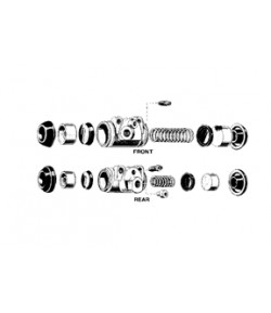 1966-68/1969/1970/1971-72/1973 ensemble de cylindre de roue AR D
