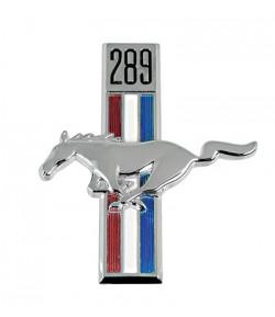 """Emblème d'aile avant gauche """"Cheval + cylindrée moteur"""" - Mustang 1967-68"""